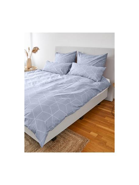 Poszewka na poduszkę z bawełny Lynn, 2 szt., Jasny niebieski, kremowobiały, S 40 x D 80 cm