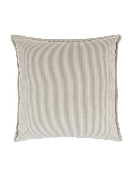 Poduszka ze sztruksu Lennon, Tapicerka: sztruks (92% poliester, 8, Beżowy, S 60 x D 60 cm