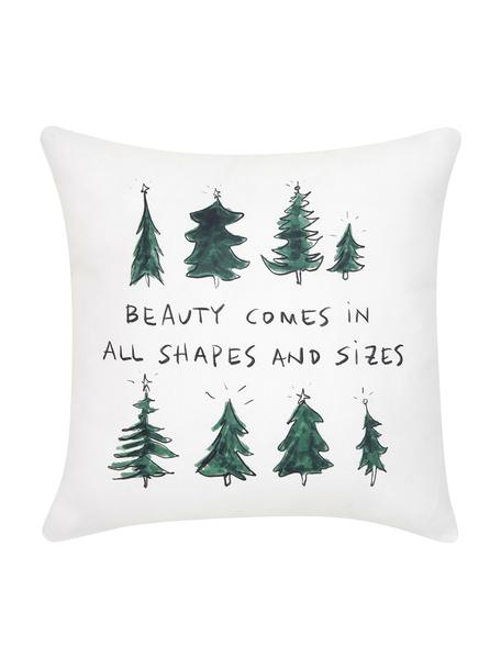 Poszewka na poduszkę Beauty od Kery Till, Bawełna, Zielony, czarny, kremowobiały, S 40 x D 40 cm
