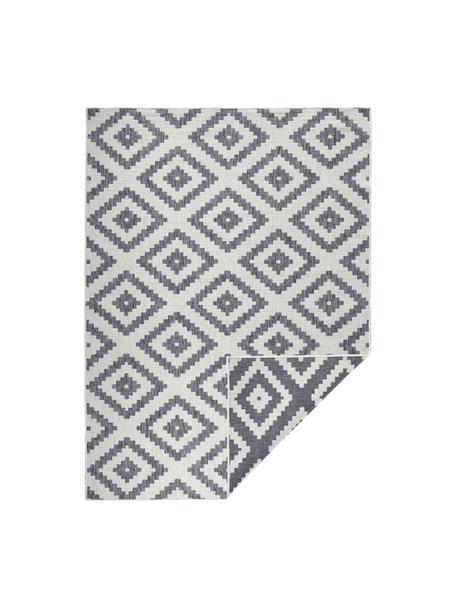 Tappeto reversibile da interno-esterno Malta, Grigio, color crema, Larg. 80 x Lung. 150 cm (taglia xs)