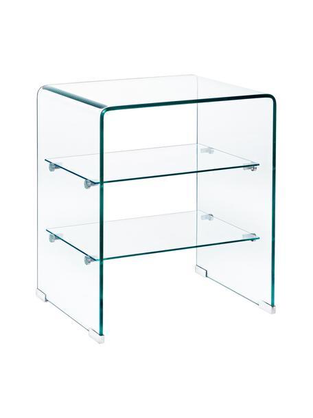 Glas-Nachttisch Glasse, Glas, Transparent, 50 x 58 cm