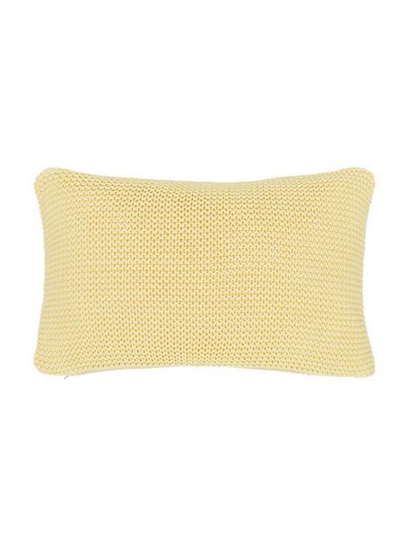 Dzianinowa poszewka na poduszkę z bawełny organicznej Adalyn, 100% bawełna organiczna, certyfikat GOTS, Jasny żółty, S 30 x D 50 cm