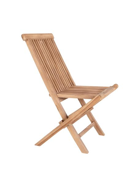 Krzesło ogrodowe z drewna tekowego Toledo, Drewno tekowe, Jasny brązowy, S 44 x G 55 cm