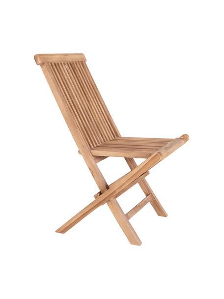 Sedia da giardino pieghevole in teak Toledo, Legno di teak, Marrone chiaro, Larg. 44 x Alt. 55 cm