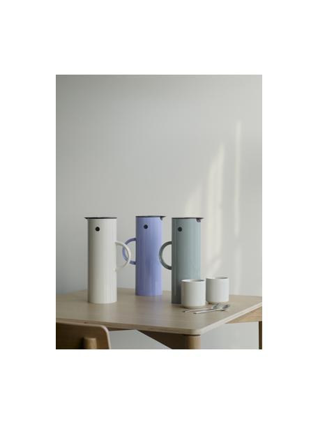 Caraffa isolante beige EM77, 1 L, Materiale sintetico ABS, interno con inserto in vetro, Color sabbia, Ø 11 x Alt. 30 cm