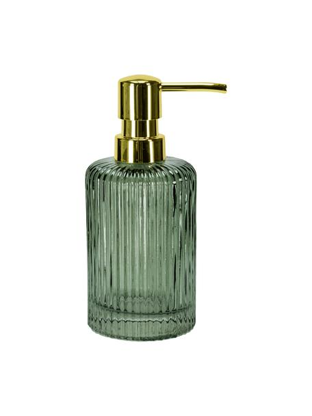 Dozownik do mydła ze szkła Antoinette, Oliwkowozielony, Ø 8 x W 17 cm