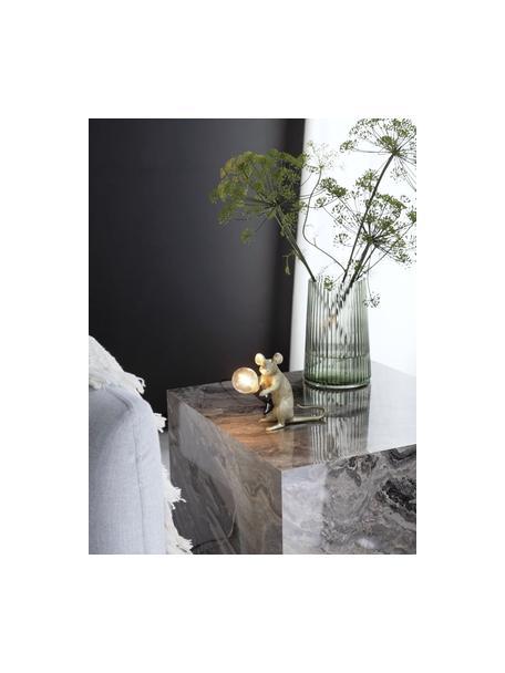 Kleine design tafellamp Mouse, Lamp: kunsthars, Goudkleurig, 5 x 13 cm