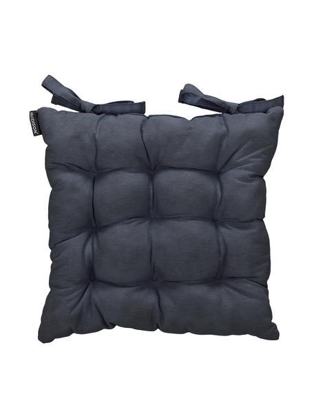 Poduszka na krzesło Panama, Tapicerka: 50% bawełna, 45% polieste, Antracytowy, S 45 x D 45 cm