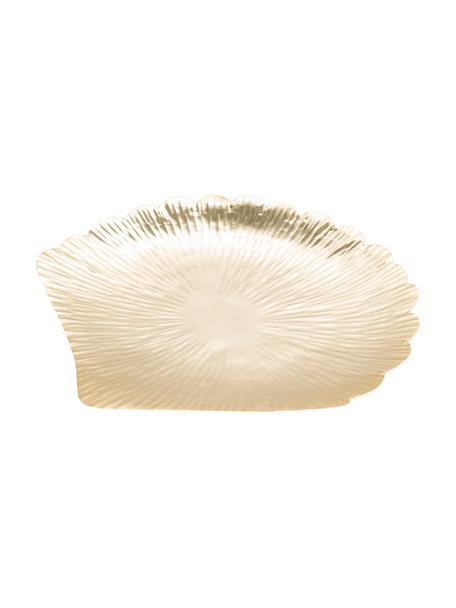 Bandeja decorativa Helix, Acero inoxidable, Dorado, An 44 x F 42 cm