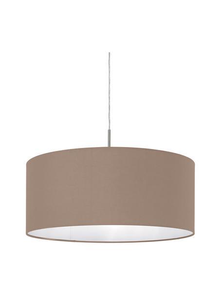 Lampa wisząca Parry, Odcienie srebrnego, taupe, Ø 53 x W 25 cm