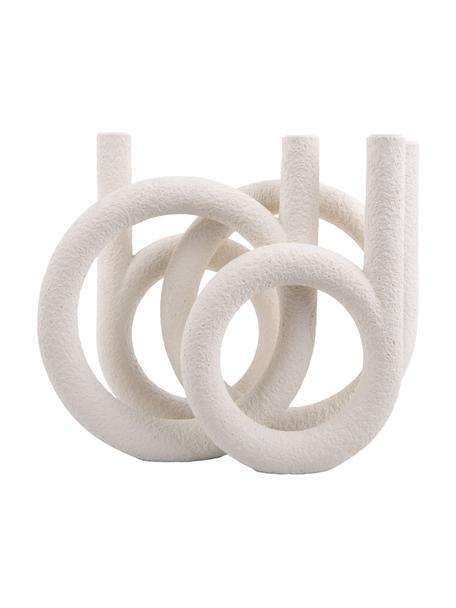 Kerzenhalter Ring, Kunststoff, Weiß, 38 x 30 cm