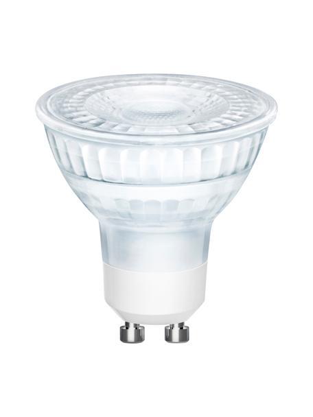Bombillas regulables GU10, 5W, blanco cálido, 3uds., Ampolla: vidrio, Casquillo: aluminio, Transparente, Ø 5 x Al 6 cm