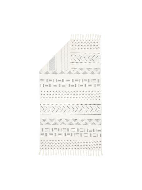 Fouta Akira, Reverso: afelpado, Blanco, negro, An 100 x L 180 cm
