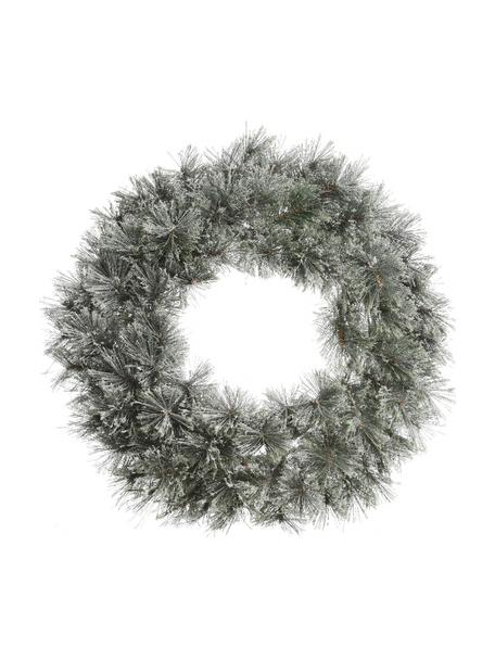 Ghirlanda natalizia innevata Carol, Struttura: metallo, Verde, bianco, Ø 63 x Prof. 20 cm