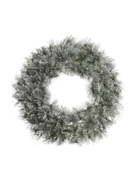 Weihnachtskranz Carol Ø 63 cm, Gestell: Metall, Grün, Weiss, Ø 63 x T 20 cm