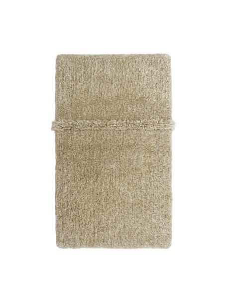 Alfombra de lana artesanal Tundra, lavable, Parte superior: 100%lana, Reverso: algodón reciclado Las alf, Beige, An 80 x L 140 cm (Tamaño XS)