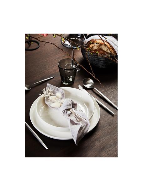 Zilverkleurige bestekset Faina van edelstaal, 6 personen (24-delig), Gecoat edelstaal 18/0, Edelstaalkleurig, Set met verschillende formaten