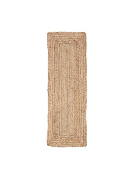 Juten tafelloper Ural, 100% jute, Grijs, 50 x 150 cm