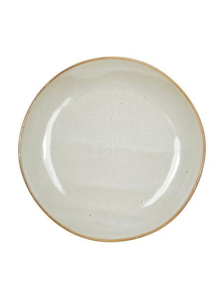 Handgemaakte keramische ontbijtborden Thalia in beige, 2 stuks, Keramiek, Beige, Ø 22 cm
