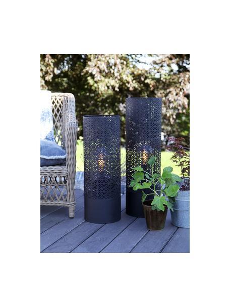Grote vloerlamp Maison met stekker, Lamp: gepoedercoat metaal, Diffuser: glas, Zwart, Ø 24 x H 78 cm