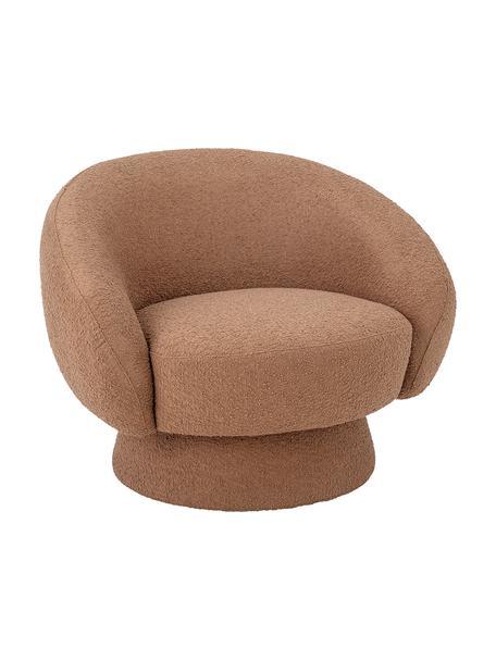 Fotel wypoczynkowy Ted, Tapicerka: 95% poliester, 5% akryl D, Stelaż: drewno sosnowe, sklejka, , Brązowy, S 93 x G 82 cm