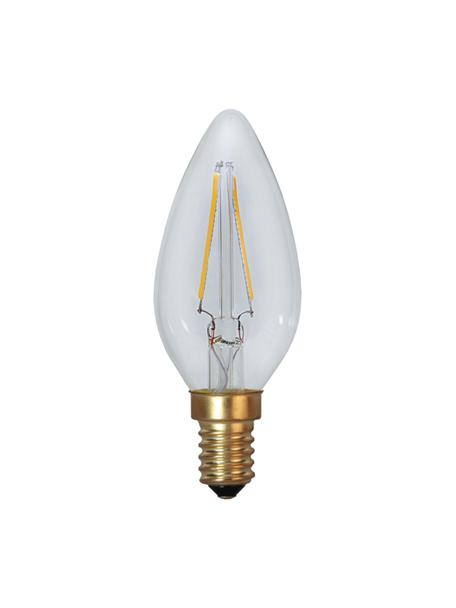 E14 peertje, 1.5 watt, warmwit, 1 stuk, Peertje: glas, Fitting: aluminium, Transparant, Ø 4 x H 10 cm