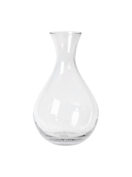 Mundgeblasene Karaffe Bubble mit dekorativen Luftbläschen, 800 ml, Glas, mundgeblasen, Transparent mit Lufteinschlüssen, H 26 cm