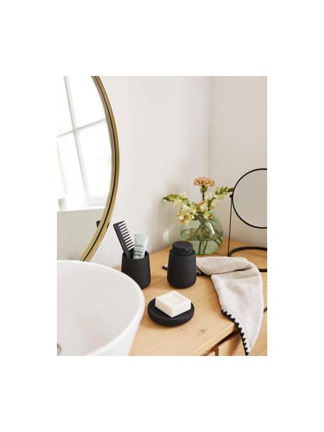 Porseleinen zeephouder  Ume, Porselein, Zwart, Ø 12 x H 3 cm