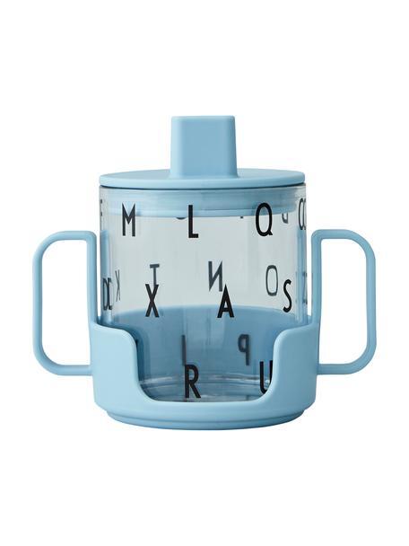 Kinderbecher Grow With Your Cup mit Halterung, Tritan, BPA-frei, Blau, Ø 7 x H 8 cm