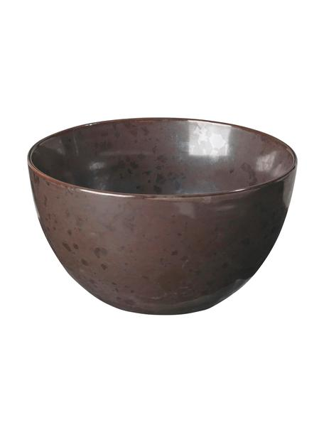 Ciotola fatta a mano Esrum Night 4 pz, Terracotta smaltata, Marrone grigiastro lucido argenteo opaco, Ø 14 x Alt. 8 cm