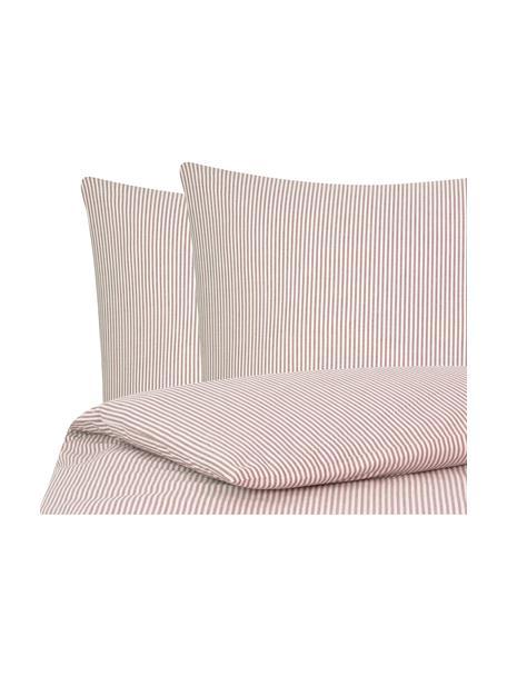 Parure copripiumino in cotone ranforce Ellie, Tessuto: Renforcé, Bianco, rosso, 255 x 200 cm