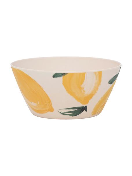 Miska z włókna bambusowego Sicilian Summer, 4 szt., Włókna bambusowe, Beżowy, żółty, Ø 15 x W 7 cm