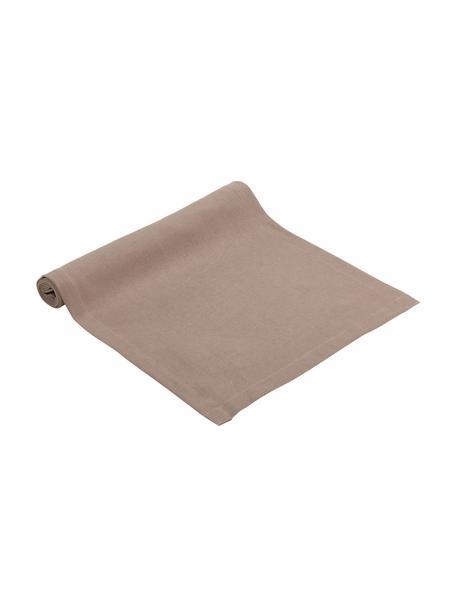 Camino de mesa de lino Lion, 100%lino, Gris pardo, An 40 x L 145 cm