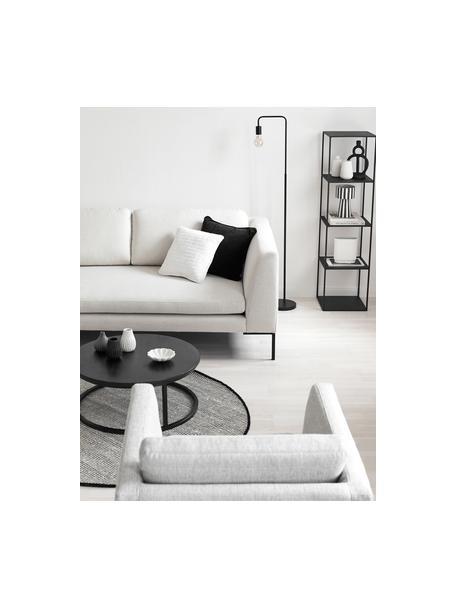 Lámpara de lectura de metal Flow, Lámpara: metal con pintura en polv, Cable: cubierto en tela, Negro, An 33 x Al 153 cm