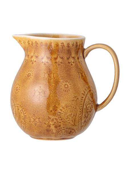 Handgemaakte karaf Rani met craquelé glazuur, Keramiek, Geel, 1.2 L