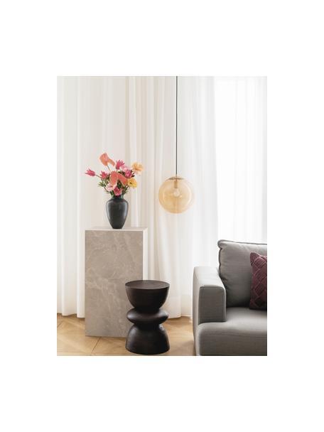 Stolik kawowy z imitacją trawertynu Lesley, Płyta pilśniowa średniej gęstości (MDF) pokryta folią melaminową, Beżowy, imitacja trawertynu, S 90 x W 40 cm