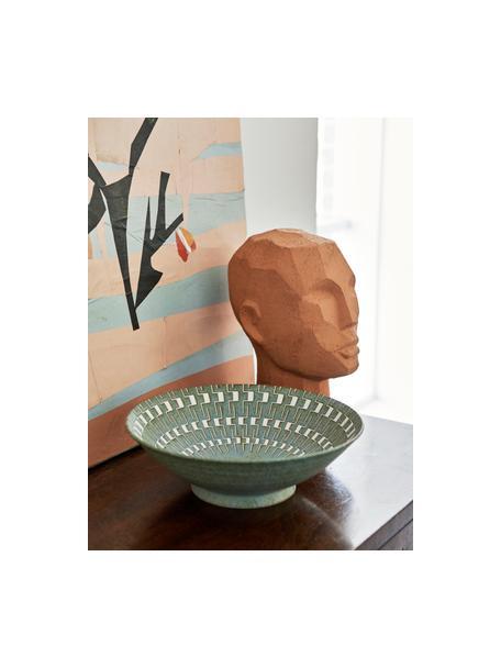 Insalatiera stile giapponese fatta a mano Yunomi, Porcellana, Verde, bianco, Ø 25 x Alt. 8 cm