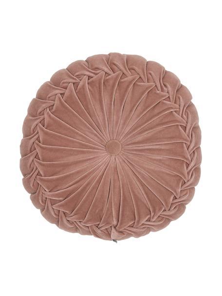 Okrągła poduszka  z aksamitu z wypełnieniem Kanan, Brudny różowy, Ø 40 cm