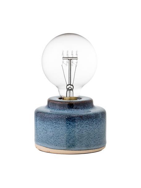 Lámpara de mesa pequeña de porcelana Celain, Cable: plástico, Azul, Ø 12 x Al 9 cm