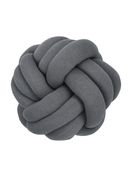 Cuscino grigio scuro Twist, Grigio scuro, Ø 30 cm