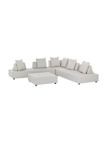 Set lounge Piper, 4pzas., Tapizado: olefina (100%polipropile, Estructura: aluminio galvanizado en c, Arena, Set de diferentes tamaños