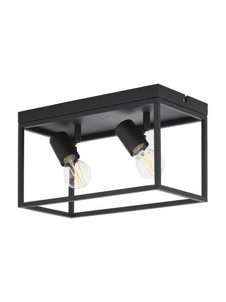 Plafondlamp Silentina in industrieel design, Zwart, 36 x 18 cm