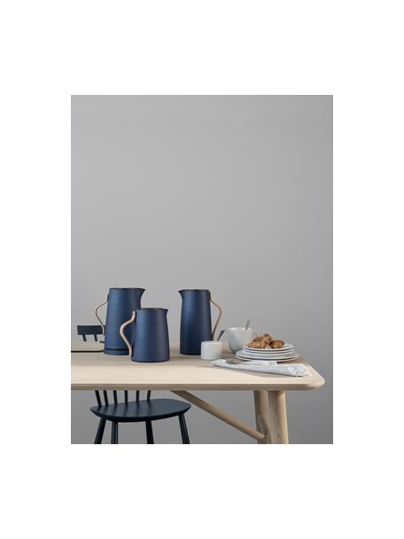Wasserkocher Emma in Blau, Griff: Buchenholz, Blau, Beige, 1.2 L