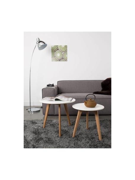 Bijzettafelsset Bodine in scandi design, 2-delig, Tafelblad: gelakt MDF, Wit, Set met verschillende formaten