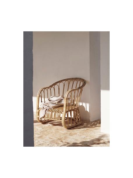 Sedia con braccioli in rattan  Palma, Rattan, Rattan, Larg. 60 x Prof. 65 cm