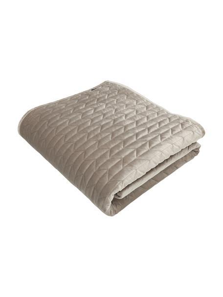 Bedsprei Tily met decoratieve stiksels, 100% polyester, Beige, B 180 x L 260 cm (voor bedden tot 140 x 200)