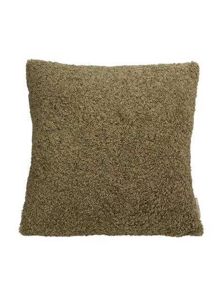 Puszysta poduszka z wypełnieniem Teddy, Zielony, S 45 x D 45 cm