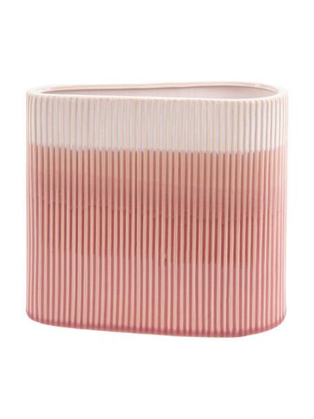 Vase Triangle aus Keramik, Keramik, Rosa, 24 x 21 cm