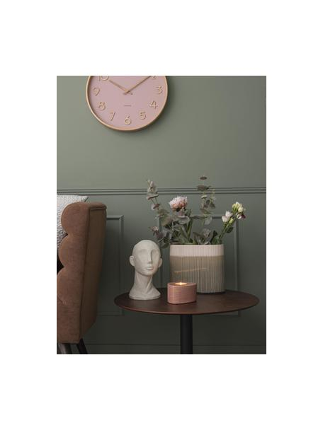 Wazon z ceramiki Triangle, Ceramika, Blady różowy, S 24 x W 21 cm