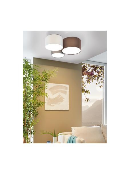 Grote plafondlamp Pastore, Bruin, grijs, wit, Ø 61 x H 26 cm